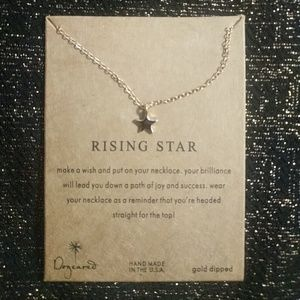 Rising Star Gold Dipped Charm Necklace